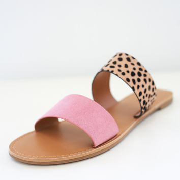 Bella Sandals - Dark Blush