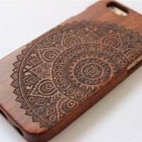 mandala custom iphone 6 case, iphone 6 case wood, wood iphone 6 plus case,iphone 6 cover