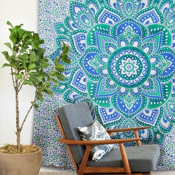 Large Hippie Tapestry Mandala Bohemian Bedspread Throw Wall Beach