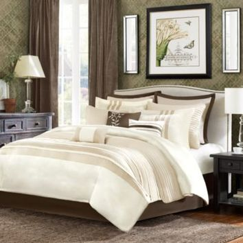 Sellick 12-Piece Comforter Super Set in Tan