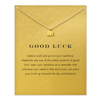 Good luck Elephant Pendant with Card