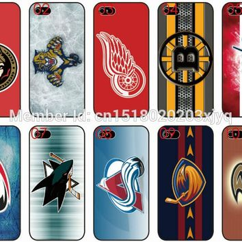 Painting NHL Hockey Team Logo Cell Phone Cover For Apple iphone 4 4S 5 5S SE 5C 6 6S 7 Plus For iPod Touch 4 5 6 Mobile Case