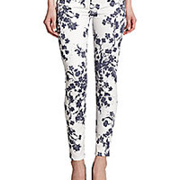 7 For All Mankind - Floral Print Ankle Skinny Jeans - Saks Fifth Avenue Mobile