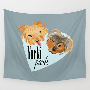 Yorki Park (c) 2017 Wall Tapestry by Belette Le Pink
