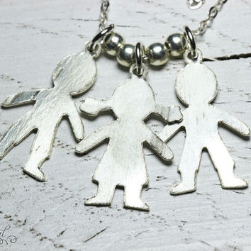 Babies pendants on 925 sterling silver chain.