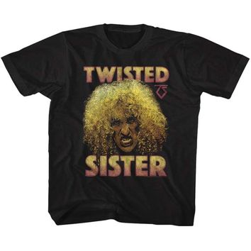 TWISTED SISTER-DEE-BLACK YOUTH S/S TSHIRT