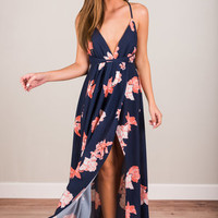 Keep It Sassy Maxi Dress, Navy