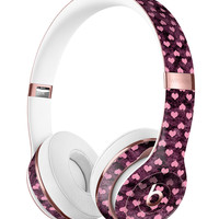 Pink Faded Micro Hearts Over Fuscia  2 Full-Body Skin Kit for the Beats by Dre Solo 3 Wireless Headphones