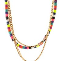 Multi Sequin, Bead & Chain Necklace by Charlotte Russe
