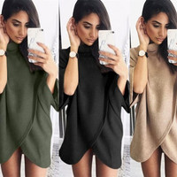 Knit Tops Irregular Sweater Women's Fashion Jacket [9882726735]