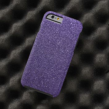 Cool Awesome Purple Glitter Tough iPhone 6 Case