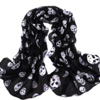 Skully Light Chiffon Scarf