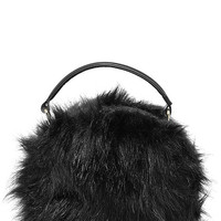 Fur the Best Black Faux Fur Purse