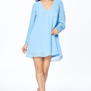 Little Miss Sunshine Long Sleeve Chiffon Short Dress