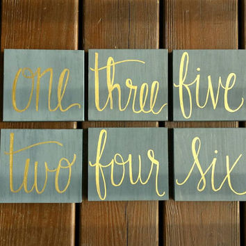 Set of 15 Rustic Table Numbers, Wedding Table Numbers, Rustic Wedding Decor, Wooden Table Numbers, Calligraphy Table Numbers,Country Wedding