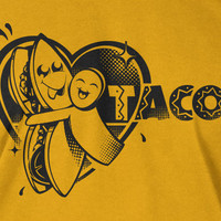 I heart love Tacos T-Shirt Tee Shirt T Shirt Mens Ladies Womens Youth Kids Funny food mexican