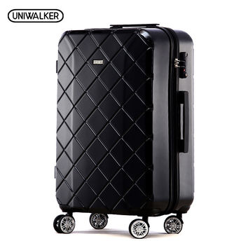 """20"""" ABS+PC Durable Travel Trolley Luggage Zipper Suitcase on Universal Wheels With TSA Lock"""