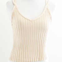 REMPA RIBBED KNIT CAMI - TAUPE