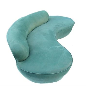 Vladimir Kagan Directional Furniture Kidney Sofa Couch