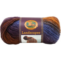 Lion Brand Landscapes Self Striping Yarn in Mountain Range