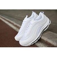 NIKE AIR MAX 97 Trending Women Men Leisure Running Sneakers Sport Shoes(7-Color) White I
