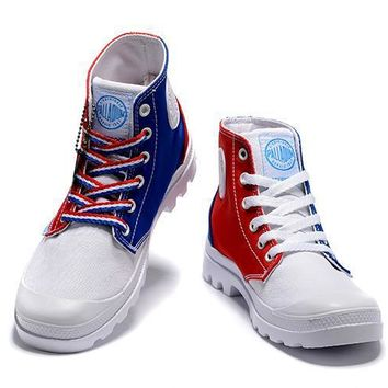 Palladium Pampa Hi Originale Tx High Boots Blue Red White - Beauty Ticks