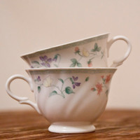 Pair of tea cups by KTsVersion on Etsy