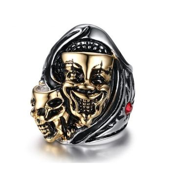 Laughing Face Rhinestone Ring