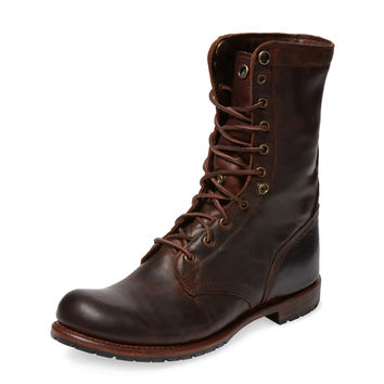 Vintage Shoe Company Men's Bayne Leather Hi Top Boot - Dark Brown