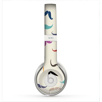 The Vintage Light Green Polka Dot With White Strip Skin for the Beats by Dre Solo 2 Headphones