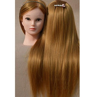 "Neverland Beauty 26"" 100% Synthetic Long Hair Hairdressing Cosmetology Mannequin Manikin Training Head Model with Clamp"