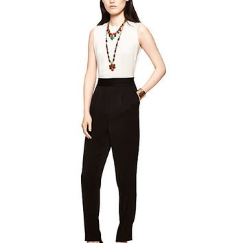 Kate Spade Colorblock Jumpsuit Cream/Black