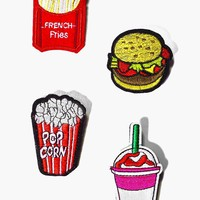 Fastfood Badge Patch Set