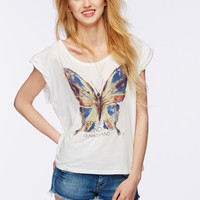 Big Butterfly Print T-Shirt
