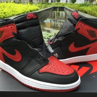 Nike Air Jordan 1 Retro High OG Banned Bred Black Red 555088-001