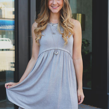 Wild Winds Dress - Dove Grey