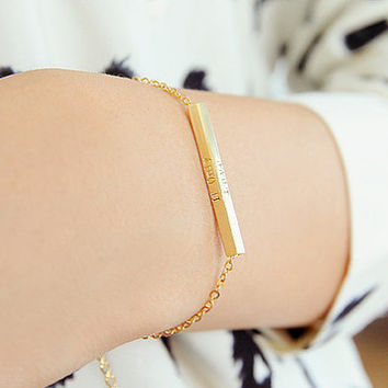 If only Bracelet, Bar Barcelet, Simple Bracelet, Love Bracelet, Korean Bracelet, Luxury Bracelet, Letters Bracelet, Brass Bracelet