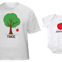 Apple Doesn't Fall Far From the Tree Father's Day for Dad and Baby