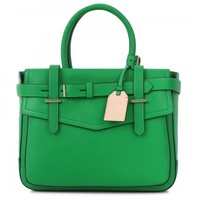 Boxer grained leather tote