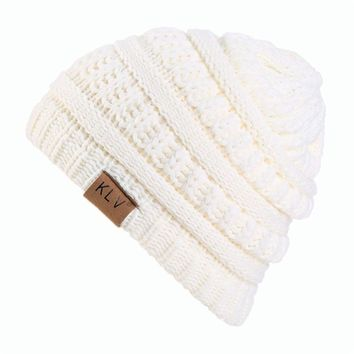 Boy Girls Warm casual charming fashion and chic Crochet Winter Wool Knit Ski Beanie Skull Slouchy Caps Hat  816 PY