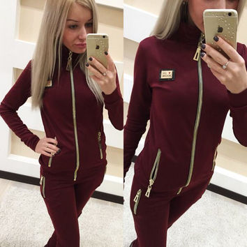 Women's Fashion Long Sleeve Hot Sale Sportswear Set [9535616004]