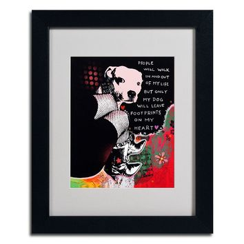 14'' x 11'' ''Girl's Best Friend'' Framed Canvas Wall Art