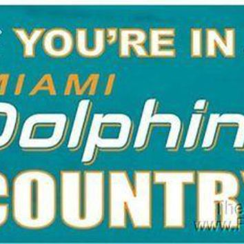 Miami Dolphins NEW LOGO COUNTRY 3x5 Flag w/grommets Outdoor Banner NFL Football