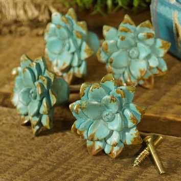 Blue Flower Decoration - Set of Four | zulily