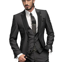 Men's Custom Made Peaked Lapel Suit