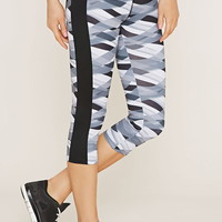 Active Abstract Capri Leggings | Forever 21 - 2000152008
