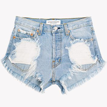 Wild Rips Light High Waist Cut Off Shorts