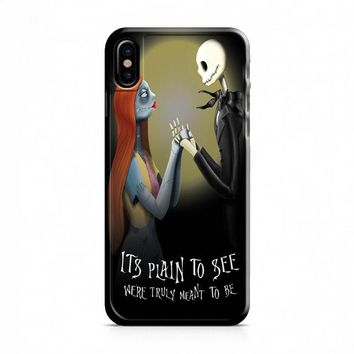 Nightmare Before Christmas (jack sally) iPhone X Case