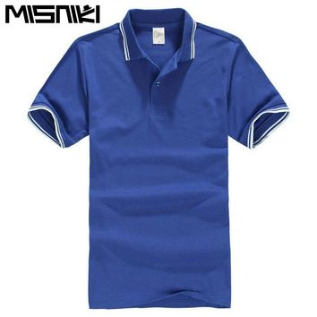 MISNIKI 2018 men's polo shirt short sleeve cotton slim fit comfortable camisa polo homme XS-3XL CYG355