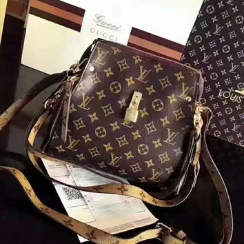 Day-First™ LV Women Shopping Leather Crossbody Satchel Shoulder Bag H-AGG-CZDL